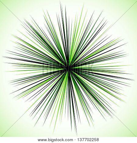 Bursting Radial Lines. Starburst, Sunburst Element, Irregular Radiating Lines.