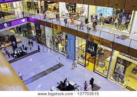 Shopping Center Dubai Mall, Top View Inside, , United Arab Emirates April 14, 2014