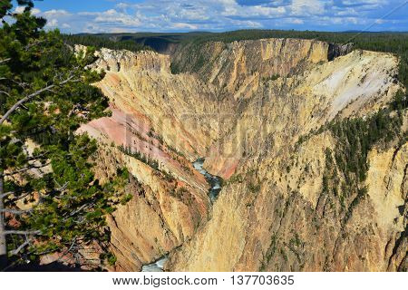 Grand Canyon Of The Yellowstone At Yellowstone National Park