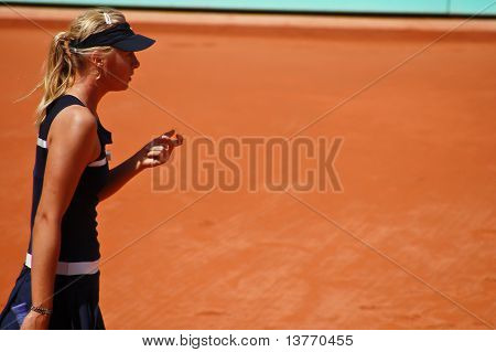 Maria Sharapova During A Match At Roland Garros In 2008
