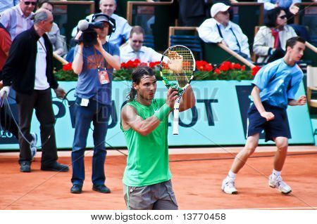 Rafael Nadal During A Match At Roland Garros In 2008