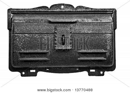 An Antique Mailbox Isolated On White Background.
