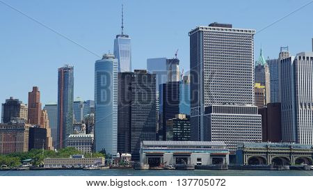 Lower Manhattan Skyline in New York City