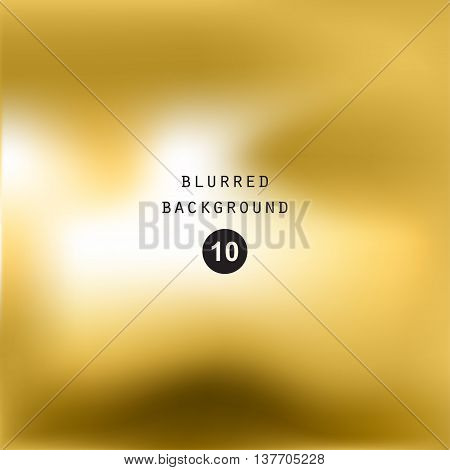 Blurred abstract gradient background for web presentations and prints. Blur gold image objects abstraction in golden color bright light effect holographic soft blurry business graphic design  cover modern pattern mesh smooth website