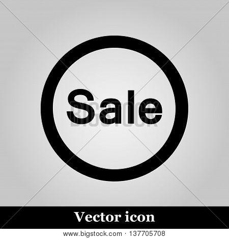 Sale icon on grey background, vector illustration