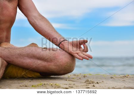 Young Man In Meditation