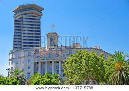 Spanish Navy Headquarters In Barcelona