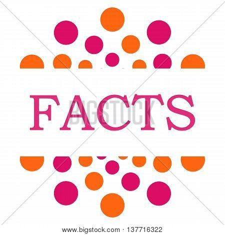 Facts text written over pink orange background.