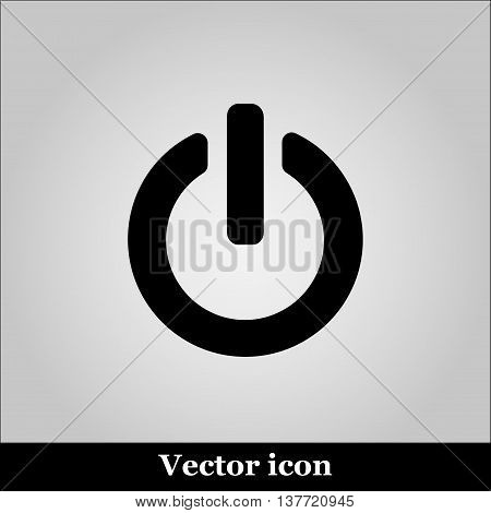 On Off switch web icon, vector illustration
