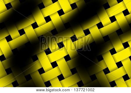 Illustration of yellow and black weaved pattern