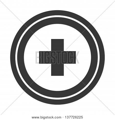 simple flat design medical cross icon vector illustration