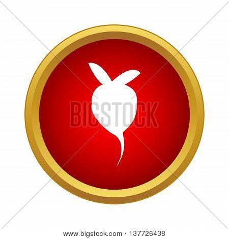 Radish icon in simple style on a white background