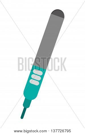 simple flat design hair straightener topview icon vector illustration
