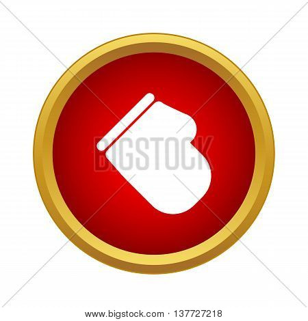 Kitchen glove icon in simple style on a white background