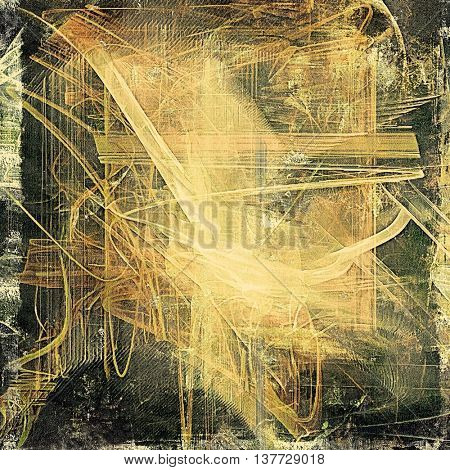 Veined grunge background or scratched texture with vintage feeling and different color patterns: yellow (beige); brown; green; gray; black