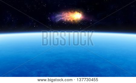 Planet And Meteorite
