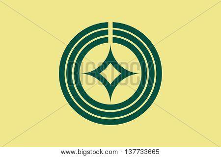 Japan Saitama prefecture Kawaguchi city flag illustration
