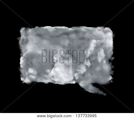 Cloud Conversation Icon With Rectangle Form
