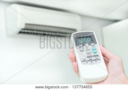 Air conditioning is turning on by using remote