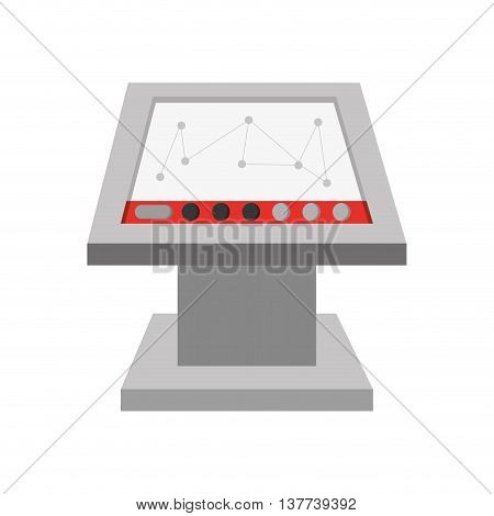 computer factory screen operating system Isolated vector illustration
