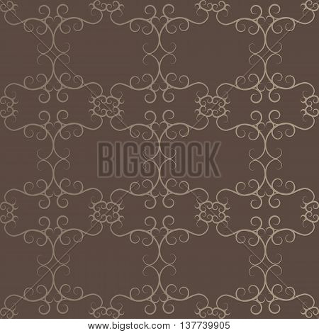 Brown Abstract Ethnic Victorian Orient Ethnic Pattern Background