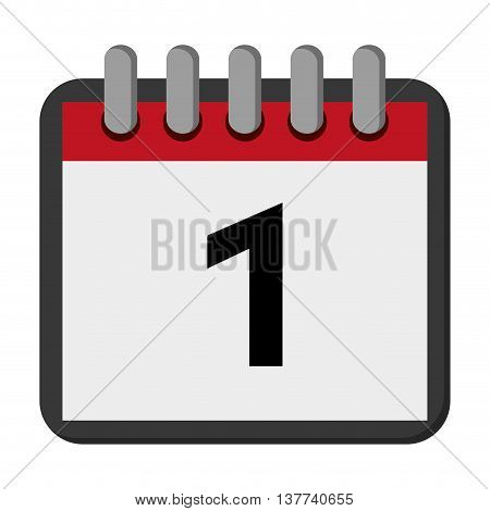 calendar day flat icon Isolated vector illustration