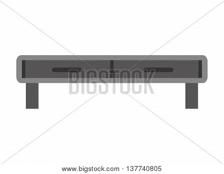 tv television table icon Isolated vector illustration