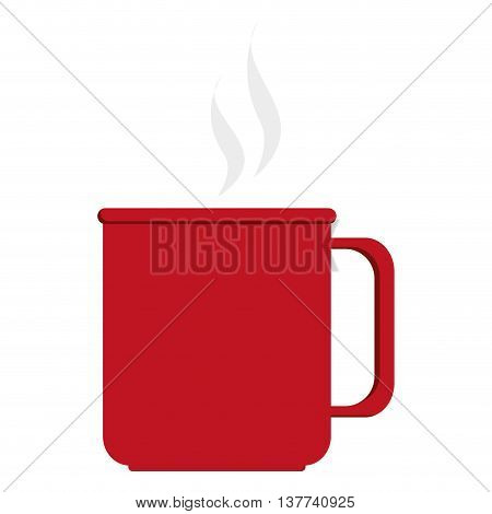 Coffe cup with ear flat icon Isolated vector illustration