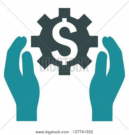 Financial Insurance Options vector icon. Style is bicolor flat symbol, soft blue colors, white background.