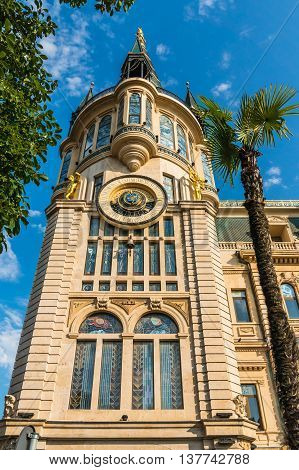 Beautiful Historical Building With Astronomical Clock