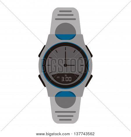flat design modern analog watch icon vector illustration