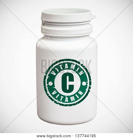 Bottle Of Pills With Vitamin C