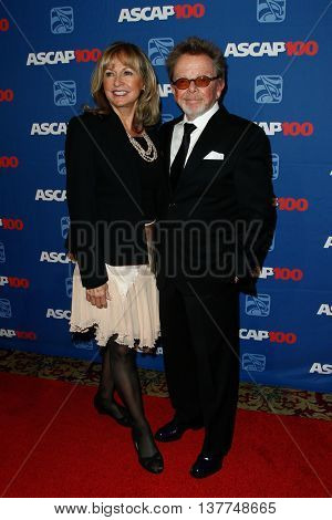 NEW YORK-NOV 17: Composer Paul Williams (R) and wife Mariana attend the ASCAP Centennial Awards at The Waldorf Astoria on November 17, 2014 in New York City.
