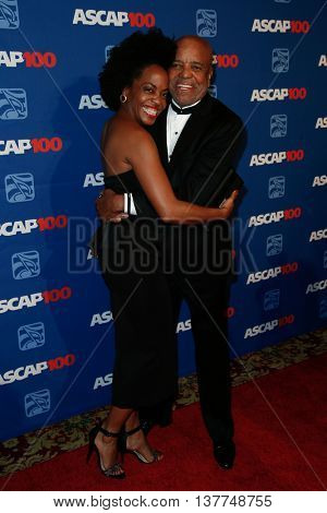 NEW YORK-NOV 17: Rhonda Ross Kendrick (L) and Berry Gordy attend the ASCAP Centennial Awards at The Waldorf Astoria on November 17, 2014 in New York City.
