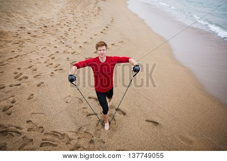 Exercising On The Sand