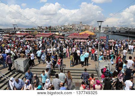 People In Eminonu, Istanbul