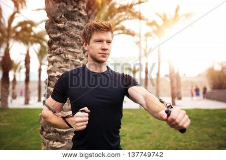 Man Pursuing His Sport Goal