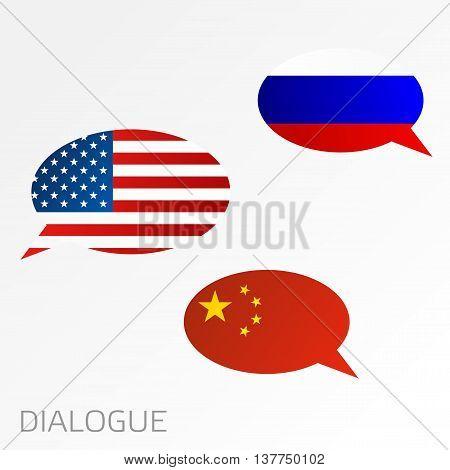 Dialogue Between Russia, China And Usa