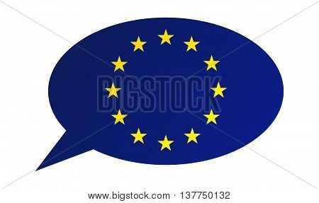 Conversation Bubble Of The European Union