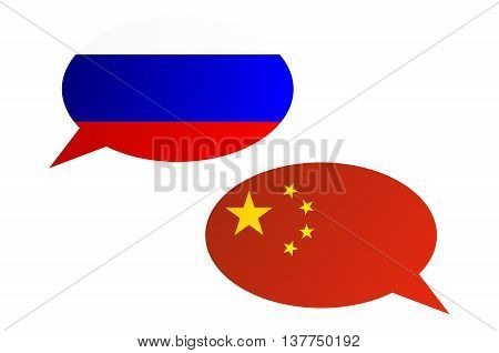 Conversation Bubbles Between Russia And China