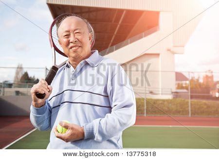 Senior Tennis Player