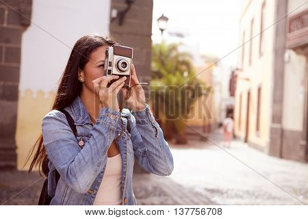 Cute Young Lady Taking A Picture