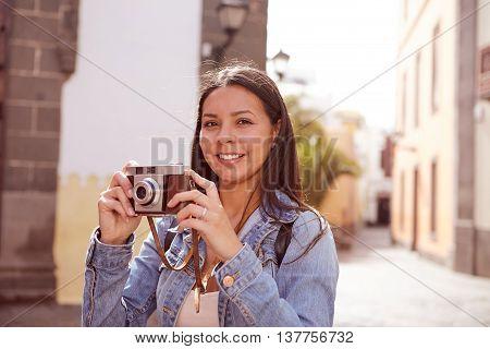 Cute Young Girl Looking At Camera