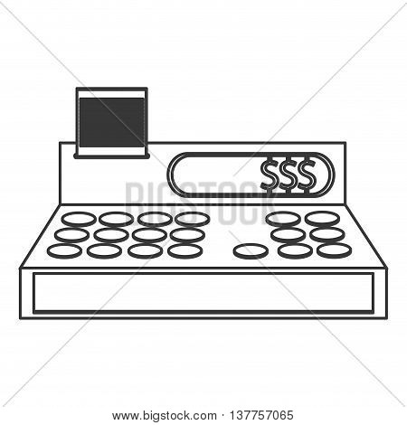 cash register cashier flat icon isolated vector illustration