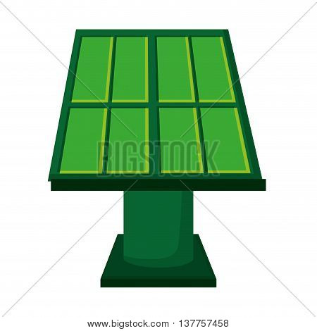 solar panel green energy icon isolated vector illustration