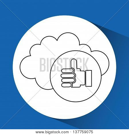 ecommerce online buy business technology isolated, vector illustration