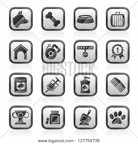 Dog and Cynology object icons - vector icon set