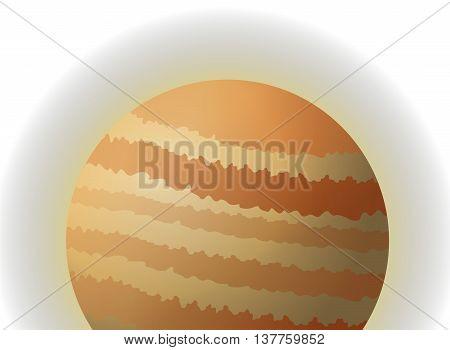 flat design planet jupiter icon vector illustration
