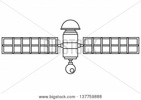 flat design single satelite icon vector illustration