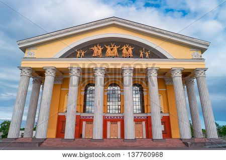 Republic of Karelia Musical Theater, Petrozavodsk, Russia. Most beautiful and famous building in Petrozavodsk.